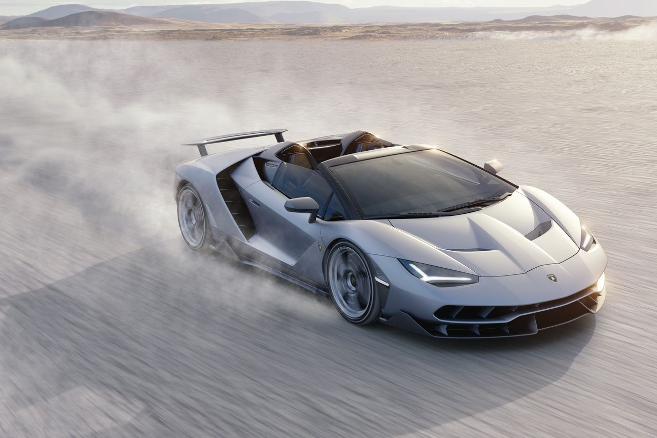 Sports car Lamborghini Centenario Roadster officially unveiled