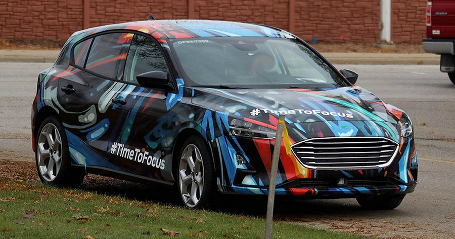 Received a photo of the new Ford Focus from road tests