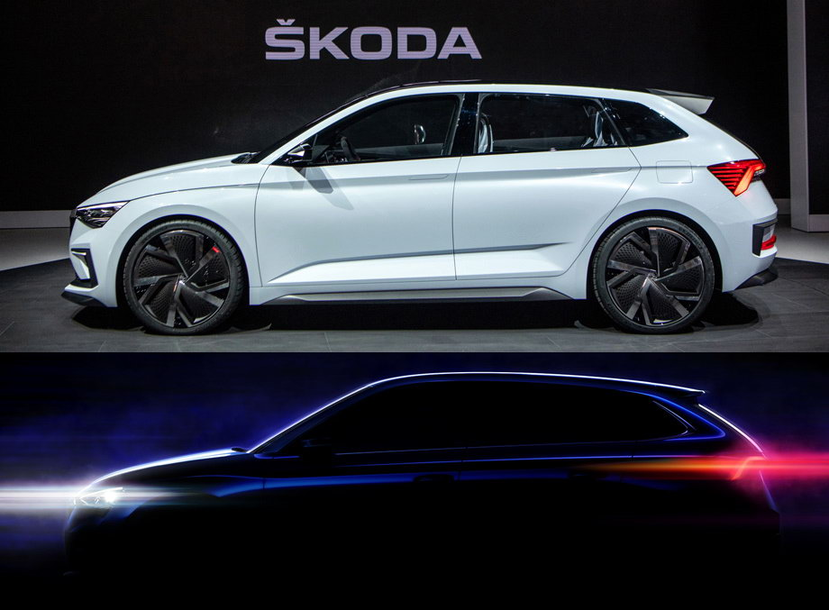 """The new model of the Skoda concern under the name """"Scala"""" was presented to the public"""