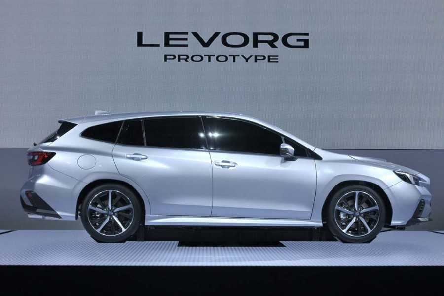 Subaru introduced a prototype of the new station wagon