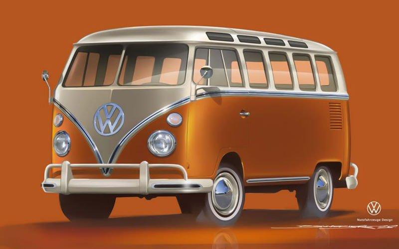 Volkswagen bereitet sich auf die Präsentation des neuen Bulli-Minivans vor