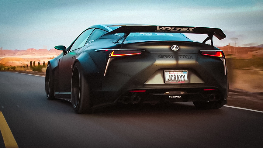 Liberty Walk masters make Batmobile from Lexus LC500