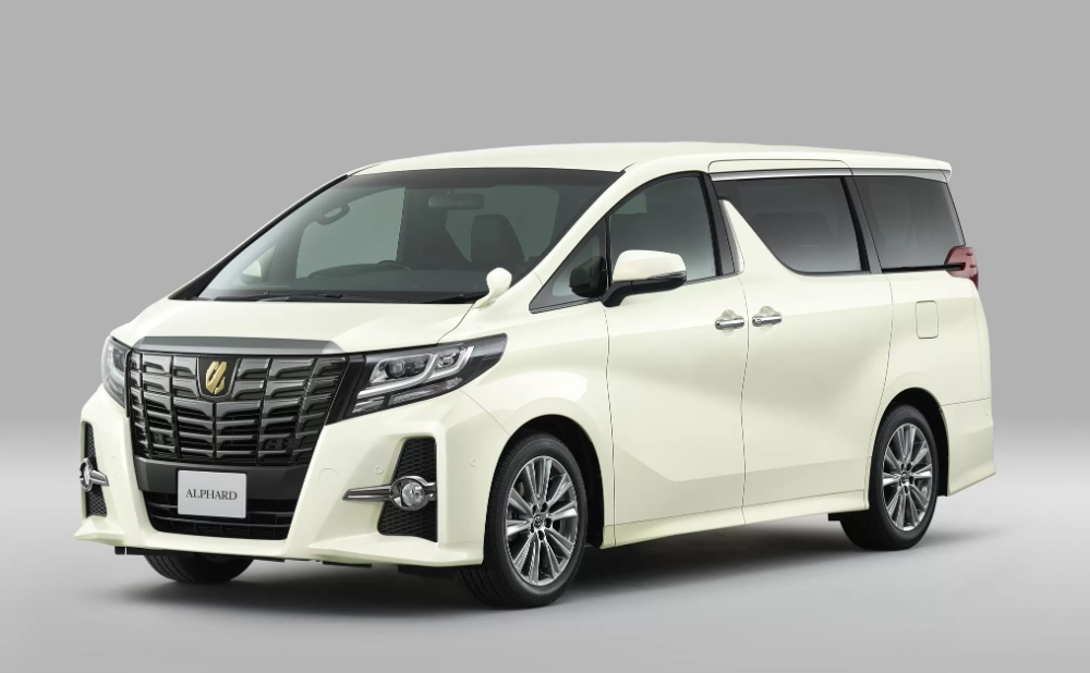 Toyota unveils Alphard and Vellfire with gold accents