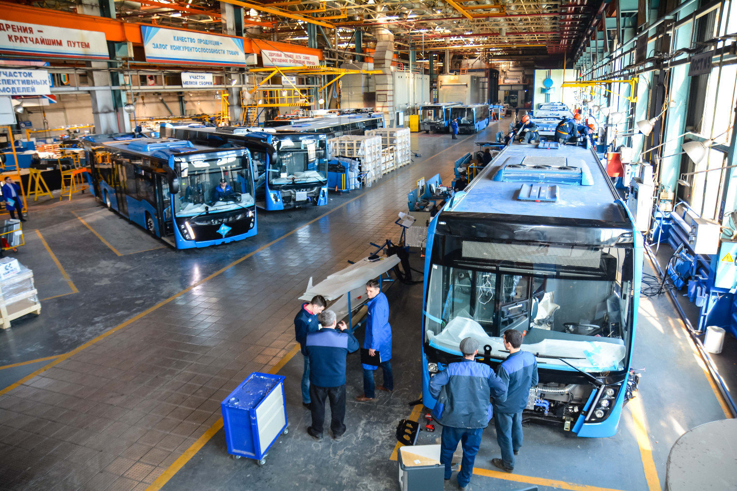 Bus production in Russia will be loaded 100%