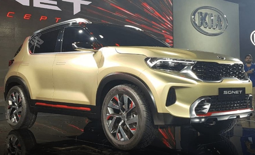 Kia showed car enthusiasts what their new Sonet crossover will look like